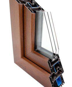 Le profile de fenetre en PVC Veka 82 avec 6 chambres et un revêtement en aluminium pour une protection supplémentaire