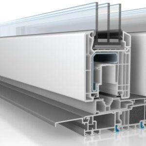 Le système de menuiserie PVC Veka Slide équipé de deux ou plusieurs rails