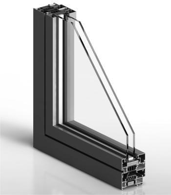 Le système de fenêtre aluminium pas chere Cortizo 70 en couleur gray