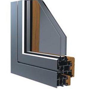 Systeme de menuiserie en bois roumanie et avec aluminium pour les fenetres et les portes