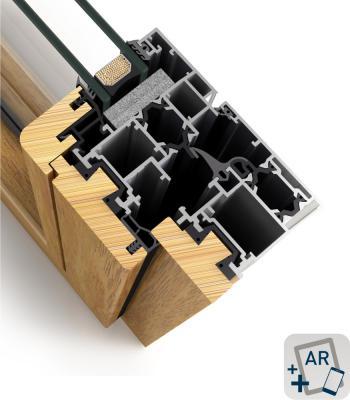 Système mixte aluminium-bois produit par fenetre usine Cortizo Galicia