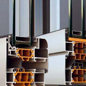 Profils en aluminium ALUMIL 11500 pour fenêtres en roumanie