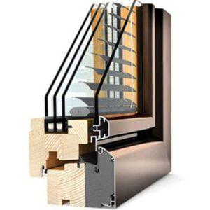 Systeme de menuiserie en bois pour les maisons passives